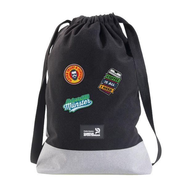Gym Bag, heather grey, patchit