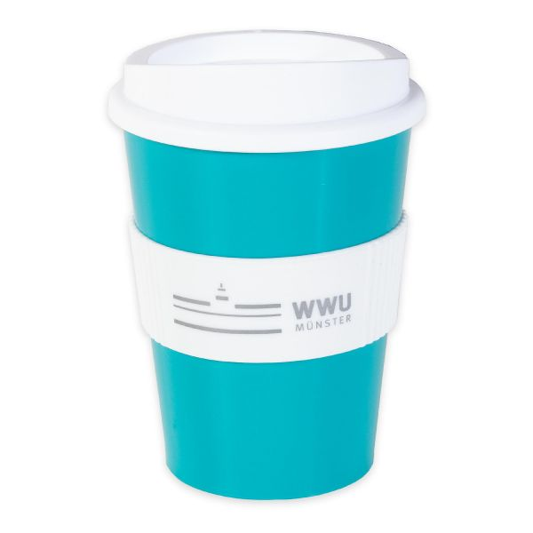 Coffee to go Cup, türkis, corporate