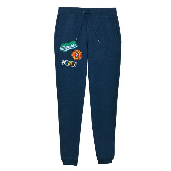 Herren Organic Sweatpants, black heather blue, patchit