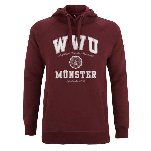 Unisex Style Hooded Sweatshirt, burgundy, texas