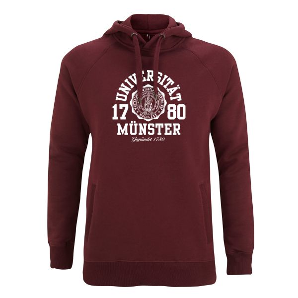 Unisex Style Hooded Sweatshirt, burgundy, marshall