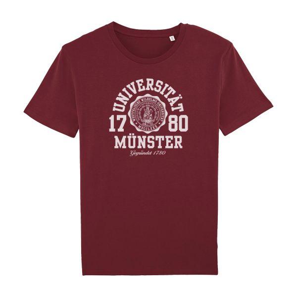 Unisex Organic T-Shirt, burgundy, marshall