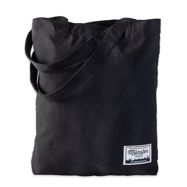 Organic Tote Bag, black, label