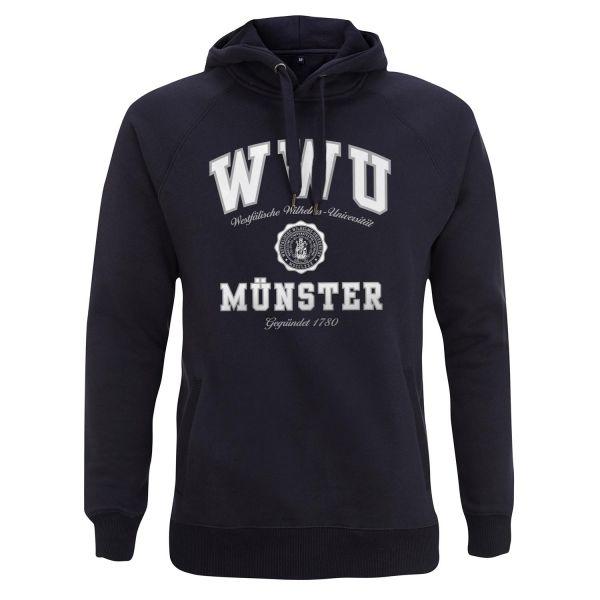 Unisex Style Hooded Sweatshirt, navy, texas