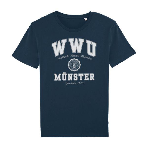 Unisex Organic T-Shirt, navy, texas