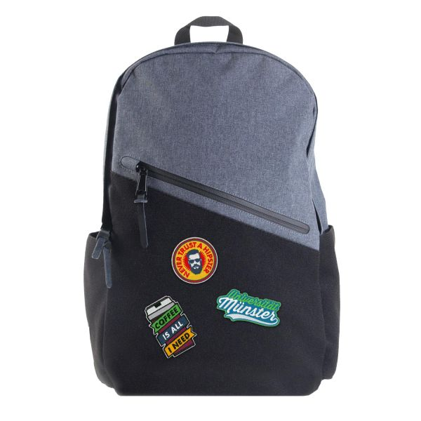 Backpack, heather blue, patchit