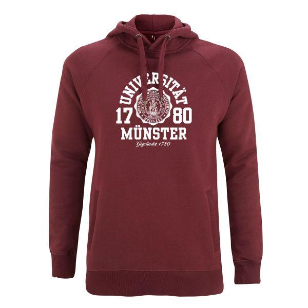 Unisex Style Hooded Sweatshirt, burgundy, marshall